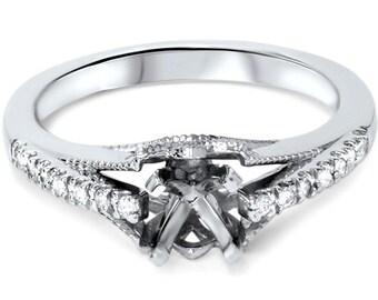 Diamond .41CT Engagement Ring Setting 950 Platinum