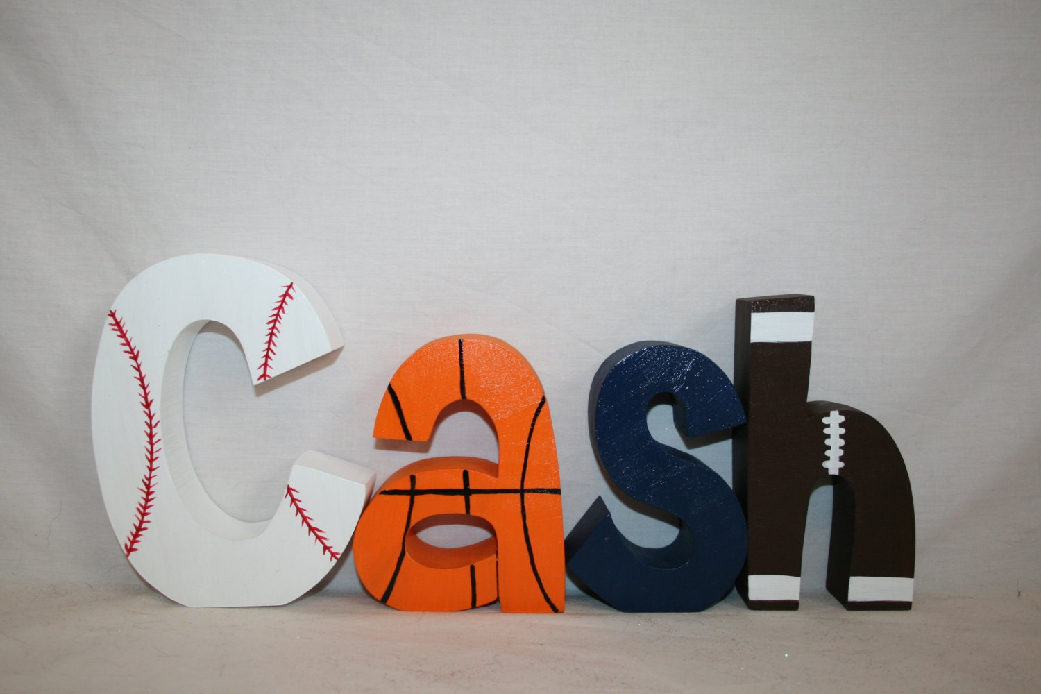 Custom Letters Wood Letters Sports Themed Decor 4 Letter