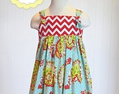 Vivian Knot Dress Sewing Pattern, Knot Dress Pattern, Instant Download PDF Pattern, Childrens Sewing Pattern, Sizes 6-12m through 12