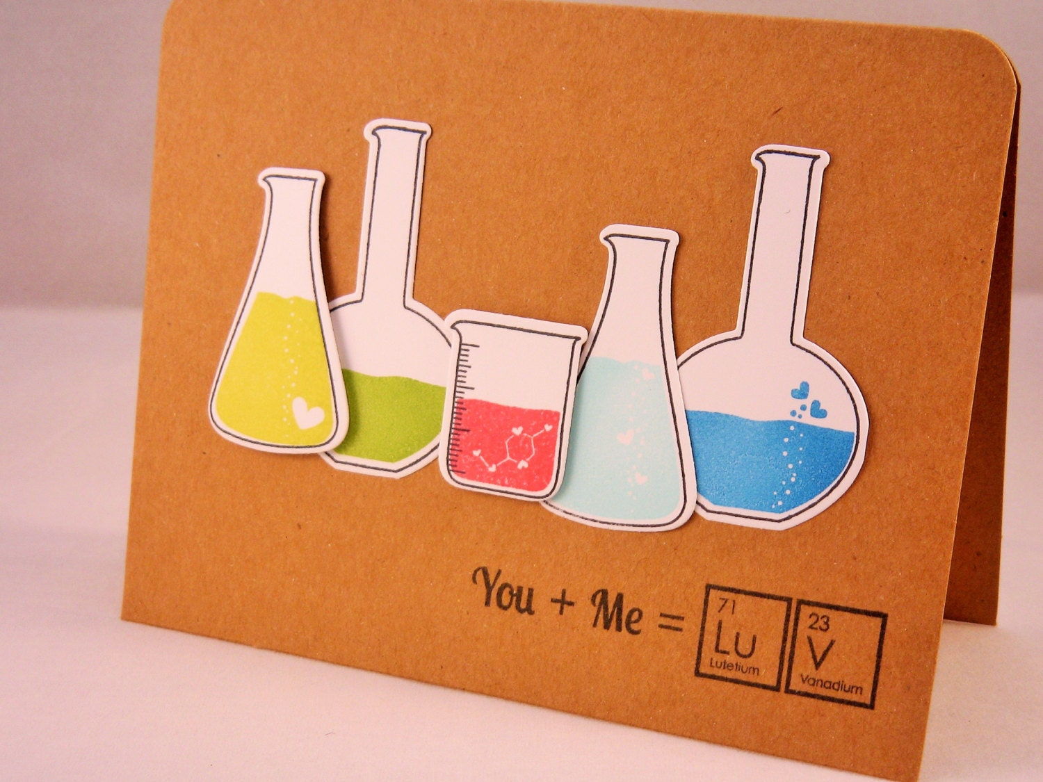 Geeky valentine card i love you card anniversary card How to make a valentine card for your girlfriend