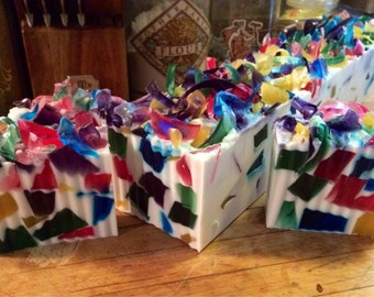 Handcrafted Confetti Cake Scented Handmade Glycerin Soap