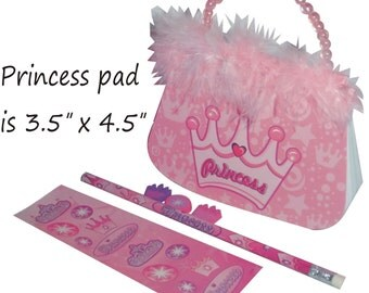 SALE ** Princess Party Favor - Personalized Purse Pad and Stationery Set