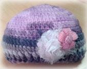 baby hat - baby accessories - baby clothes - crochet hat - pink hat - purple hat - flower hat - kids clothes- kids accessories - girls hat