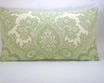 Kravet Damask Pillow Linen Lumbar Pillow Accent Pillow Linen Bed Pillow 14x26 Pillow Cover