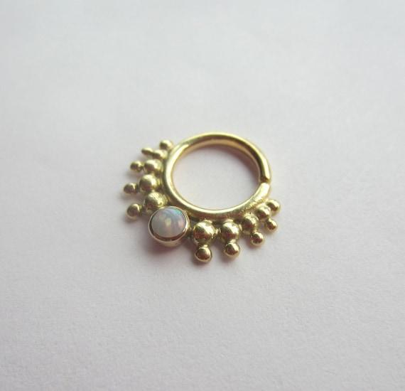 the moriah gold nose ring septum jewelry unique nose