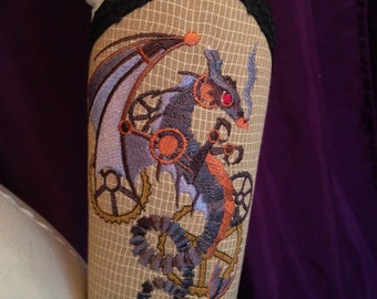 Cosplay Steam Dragon Embroidered Bracer