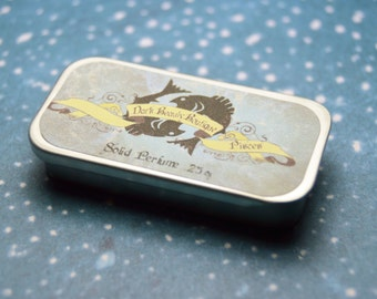Solid Perfume - Pisces - Astrological Perfume Crème Tin - Nag Champa, Vanilla Wood, Lilac, Frankinscense, Fig, Oak Moss