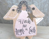 African American Salt Dough Angel Ornament