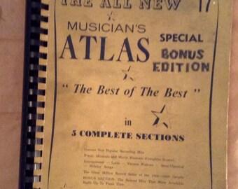 SPRING SALE - Rare Muscians Atlas Special Bonus Edition Vintage Reduced Price Book