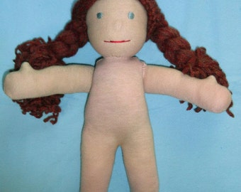 """Waldorf doll PDF pattern and instructions instant download 12"""""""