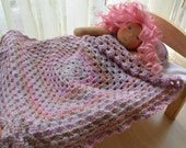 Hand crochet dolls Afghan blanket for Waldorf Dolls