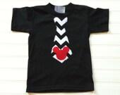 Boy's Tops Chevron Tie T- Shirt Boys Clothing Kids Shirt Chevron Tie Baby Toddlers Sizes 0-3 3-6 6-9 12 18 24 Months Boys 2 3 4 5 6 8 10
