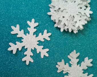 SNOWFLAKES-choose style, size and color*****Glitter Snowflakes