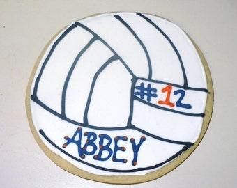 Volleyball Cookies 2 dozen