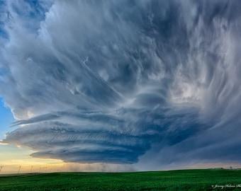 Fine Art Print of an amazing supercell thunderstorm in Nebraska