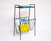 Mid-Century Wire Magazine Rack or Shelf