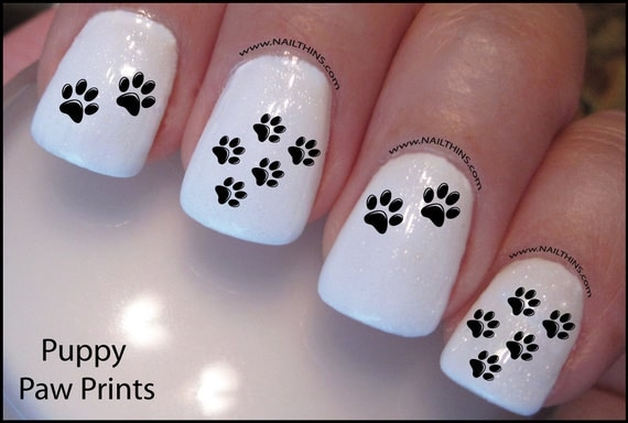 - Poodle Nail Decal Dog Standard Poodle Design Nail Art