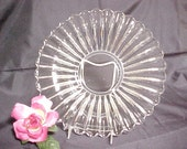 RESERVED Vintage Heisey Crystolite Low Flared Console Bowl, Elegant Depression Glassware, Crystal Dinnerware, Clear Collectible Glass Servin