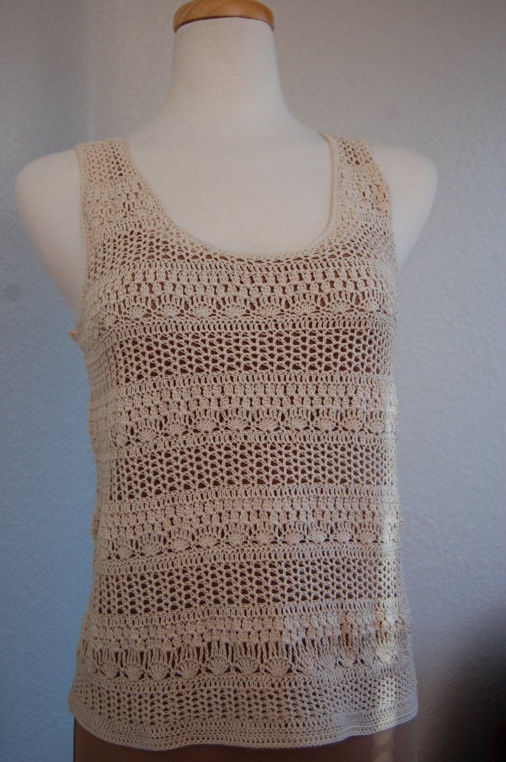 Crochet top PATTERN, detailed instructions in English for ... |Thread Crochet Top