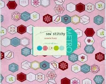 Sew Stitchy Layer Cake by Aneela Hoey for Moda