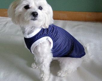 Purple Athletic Jersey Mesh Sleeveless Dog Shirt