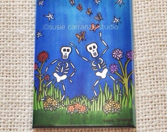 """Magnet -""""Dancing with Butterflies"""" by Susie Carranza."""