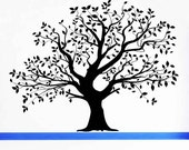 Large, Realistic Tree, Leaves, Summer, Fall, Spring - Decal, Sticker, Vinyl, Wall, Home, Office, Holiday, Gothic Decor