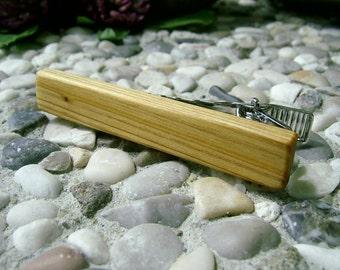 TIE CLIP - Wooden Sinker CYPRESS Tie Bar, Handmade Tie Clip