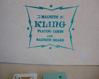 Vintage Magnetic Playing Cards, Kling, Magnetic board