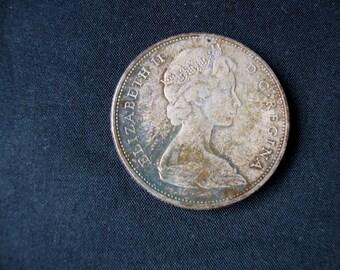 Vintage Canadian Dollar, 1965 Elizabeth II  Silver Dollar
