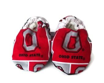Baby Shoes, Baby Booties - Ohio State Buckeyes Print
