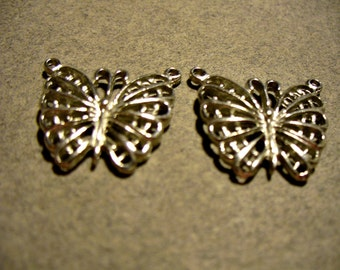 Charm Antique Silver Butterfly 19x17mm