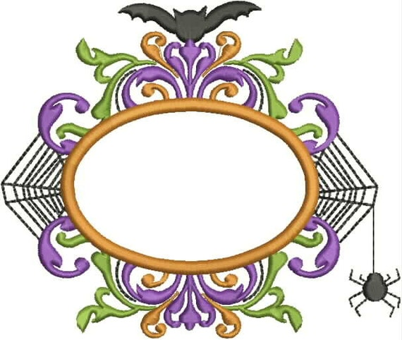 Spider web frame embroidery design machine applique
