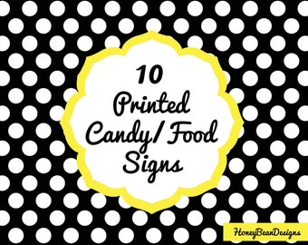 10 Printed Candy/Food Labels