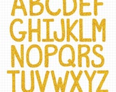 Gold Alphabet Clipart Digital Letter Download Image Gold Glitter Alphabet