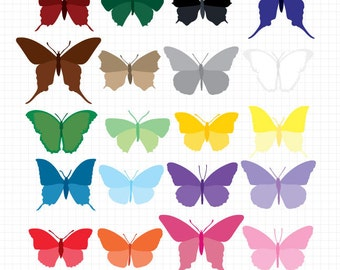 Butterfly Clipart, Clip Art Instant Digital Download Printable Butterflies Downloadable Images