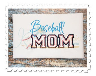 Baseball MOM 5 Applique