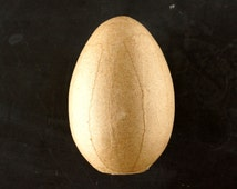 """Blank Paper Mache Egg with Sand Inside (4-1/2"""" tall, Sold Individually) - Decorate, Customize, Leave Blank - Perfect for Spring and Easter"""