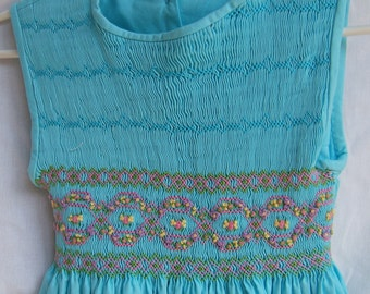CLEARANCE: Hand Smocked Girls Dress  Sizes 4