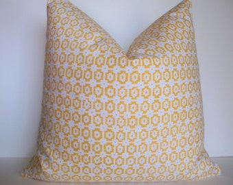 Yellow Pillow Cover Yellow Ikat Pillow Braemore Paloma Yellow Decorative Pillow Cover BOTH SIDES