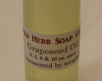 Pure GRAPESEED OIL (Organic) - 8 oz. size - FRESH Carrier Oils and Butters