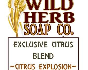 CITRUS EXPLOSION: Exclusive Scent (Blend of citrus essential oils) by Wild Herb Soap