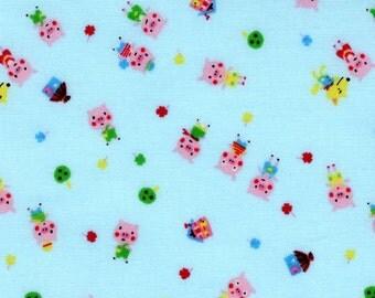 Minny Muu by Lecien - Three Little Pigs in Blue