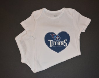 Tennessee Titans Children's Heart Bodysuit or T-Shirt
