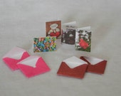 Dollhouse Miniature Valentine Greeting Cards  - With Envelopes - One Inch Scale - Set of 4