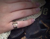RESERVED for Susan Goldberg 1800s 18k gold ring Victorian mourning hair repousse band buckle design size 4 and a half