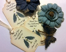 Peacock personalized wedding /celebration gift favor tags