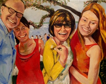 Graduation Day!  36x48 Original oil painting by Marlene Kurland  Example/Sold