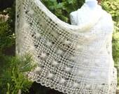 crochet shawl, hand knit shawl, Ivory mohair shawl, Holiday Accessories, wraps shawls wedding, lace shawl, unique shawls