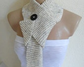 Ivory neck warmer, scarf, winter, fashion,Holiday Accessories,Christmas,Halloween,gift